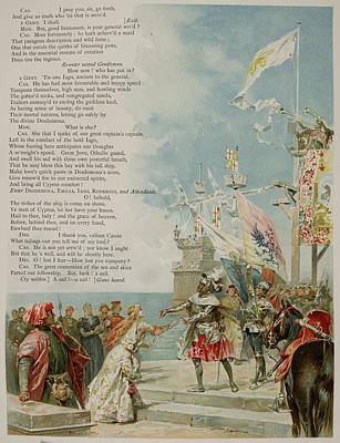 Othello. The Moor Of Venice Poster by British Library