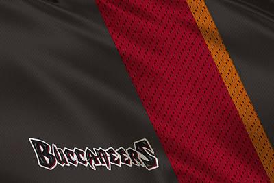 Tampa Bay Buccaneers Uniform Poster by Joe Hamilton