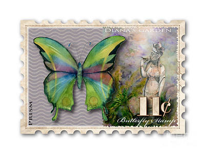 11 Cent Butterfly Stamp Poster by Amy Kirkpatrick