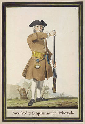 Dutch Military Costurmes And Musket Exerc Poster by British Library