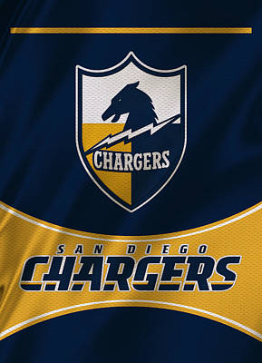 San Diego Chargers Uniform Poster by Joe Hamilton