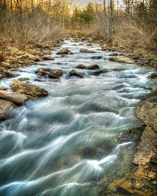 1104-5570 Falling Water Creek  Poster by Randy Forrester