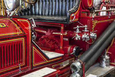 1915 Lafrance Fire Engine Poster by Rich Franco