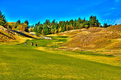 #12 At Chambers Bay Golf Course - Location Of The 2015 U.s. Open Championship Poster by David Patterson