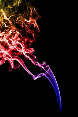 Colourful Smoke Poster by Samuel Whitton