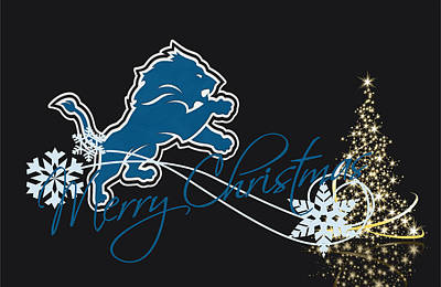 Detroit Lions Poster by Joe Hamilton