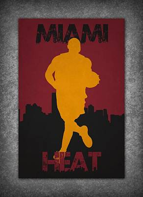 Miami Heat Poster by Joe Hamilton