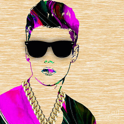 Justin Bieber Collection Poster by Marvin Blaine