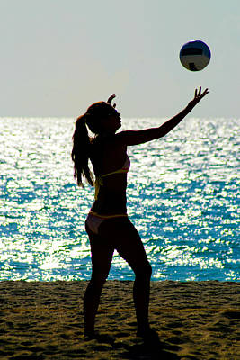 Beach Volleyball Poster by Celso Diniz