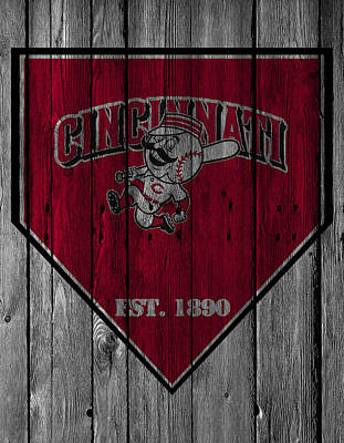 Cincinnati Reds Poster by Joe Hamilton