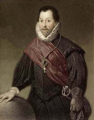 1580 Sir Francis Drake Tudor Explorer Poster by Paul D Stewart