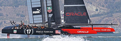 America's Cup Oracle Poster by Steven Lapkin