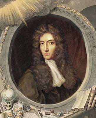 1739 Robert Boyle Portrait Colour Crop Poster by Paul D Stewart