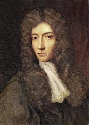 1739 Robert Boyle Portrait Colour Poster by Paul D Stewart