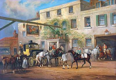 Mail Coaches On The Road- Poster by Charles Cooper
