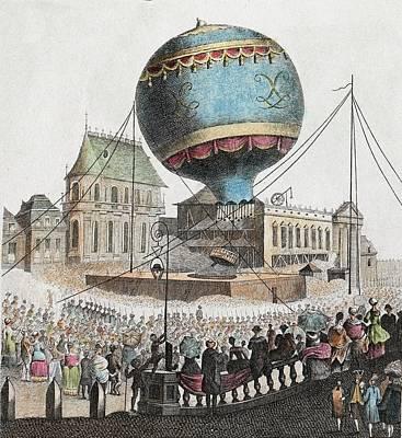 1783 Montgolfier First Ascent Balloon Poster by Paul D Stewart