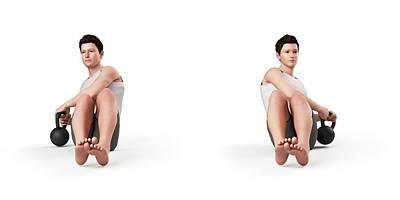 Person Using Kettlebell Poster by Sebastian Kaulitzki