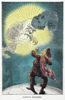 1871 Charles Darwin Monkey Versus Kelvin Poster by Paul D Stewart