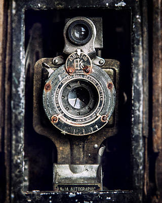 1900s Kodak Camera In Rusty Color  Poster by Lisa Russo