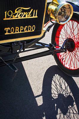 1911 Ford Model T Torpedo Grille Emblem Poster by Jill Reger