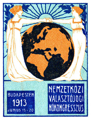1913 International Woman's Suffrage Poster by Historic Image