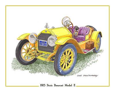1915 Stutz Bearcat Poster by Jack Pumphrey