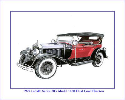 1927 Lasalle Dual Cowl Phaeton Poster by Jack Pumphrey
