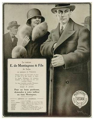 1929 E Montagnac And Sons Fashion Advertisement Poster by John Madison