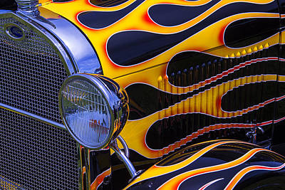 1929 Model A 2 Door Sedan With Flames Poster by Garry Gay