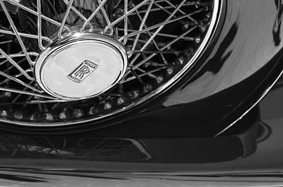 1929 Rolls-royce Phantom I Ascot Phaeton Spare Tire Emblem Poster by Jill Reger