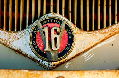 1930 Cadillac 452 V16 Ambulance Emblem Poster by Jill Reger