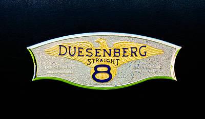 1930 Duesenberg Model J Lwb Dual Cowl Phaeton Emblem Poster by Jill Reger