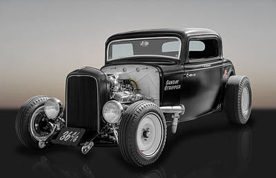 1932 Ford Deuce Coupe Poster by Frank J Benz