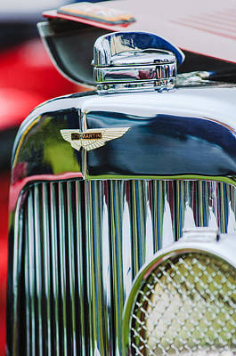 1934 Aston Martin Mark II Short Chassis 2-4 Seater Grille Emblem Poster by Jill Reger