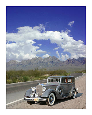 1934 Packard 8 On Dripping Springs Road Packard Poster by Jack Pumphrey