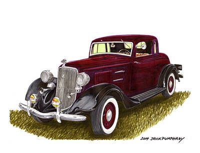 1934 Plymouth P E Coupe Poster by Jack Pumphrey