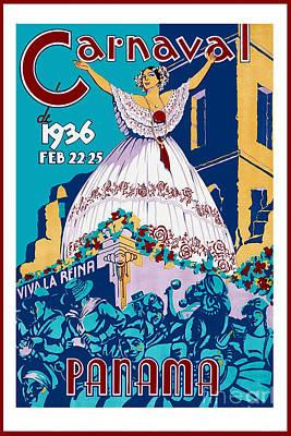 1936 Carnaval Vintage Travel Poster Poster by Jon Neidert
