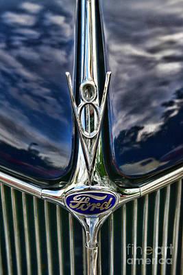 1936 Ford Phaeton Hood Ornament Poster by Paul Ward