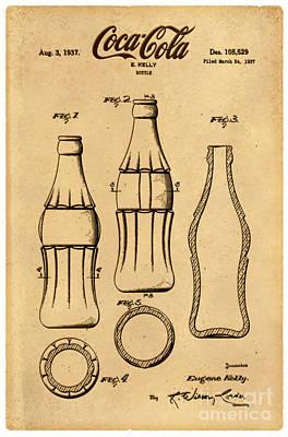 1937 Coca Cola Bottle Design Patent Art 4 Poster by Nishanth Gopinathan