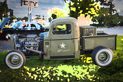 1938 Chevy Pick Up Truck Rat Rod Poster by Rich Franco