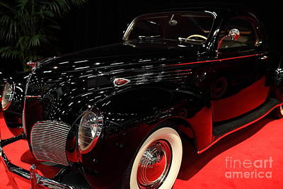 1938 Lincoln Zephyr Coupe - 5d19859 Poster by Wingsdomain Art and Photography