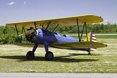 1941 Stearman A75n1 Biplane Airplane  Poster by Keith Webber Jr
