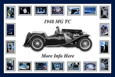 1948 Mg Tc Poster by Jill Reger