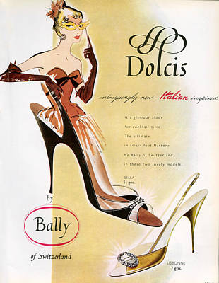 1950s Uk Dolcis Magazine Advert Poster by The Advertising Archives