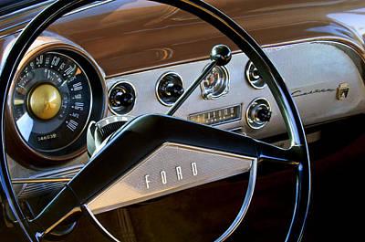 1951 Ford Crestliner Steering Wheel Poster by Jill Reger