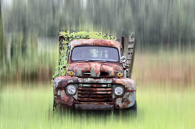 1951 Ford Truck - Found On Road Dead Poster by Bill Cannon