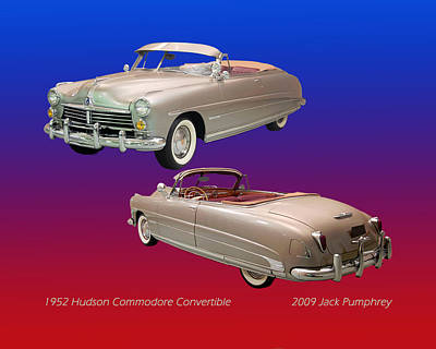 1952 Hudson Commodore Convertible Poster by Jack Pumphrey