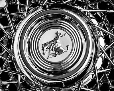 1952 Stering Gladwin Maverick Sportster Wheel Emblem - 1720bw Poster by Jill Reger