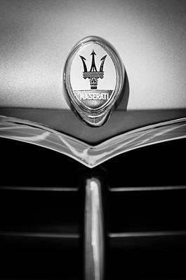 1953 Maserati A6g-2000 Spyder Grille Emblem Poster by Jill Reger