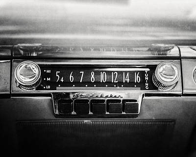 1953 Studebaker Land Cruiser In Black And White Poster by Lisa Russo
